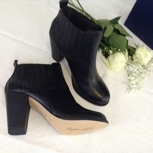 "Splendid Black Leather Bootie ""Rachel Gored"" 8.5M"